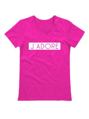 Футболка J'adore розовая