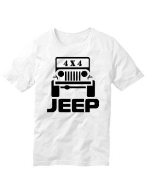 Футболка Jeep 4x4 белая