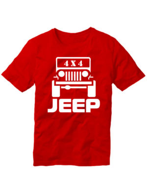 Футболка Jeep 4x4 красная