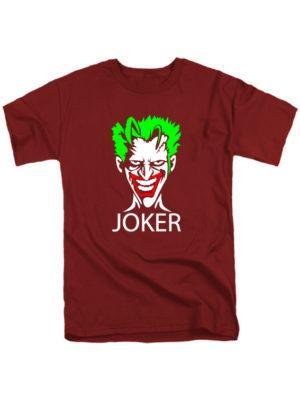 Футболка Joker бордовая