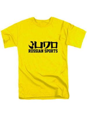 Футболка Judo Russian sports желтая