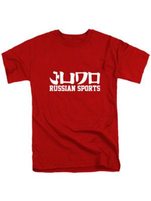 Футболка Judo Russian sports красная