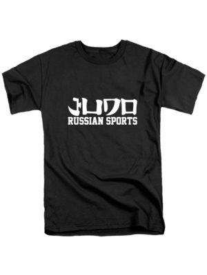 Футболка Judo Russian sports черная