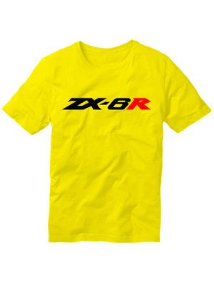 Футболка Kawasaki ZX-6R желтая