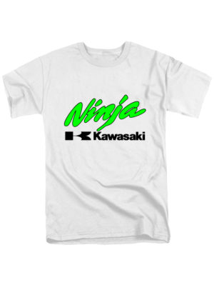 Футболка Kawasaki ninja белая