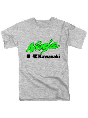 Футболка Kawasaki ninja серая
