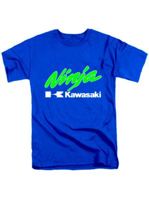 Футболка Kawasaki ninja синяя