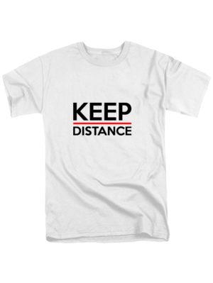 Футболка Keep Distance белая