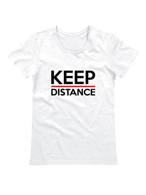 Футболка Keep Distance женская белая