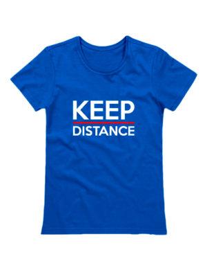 Футболка Keep Distance женская синяя