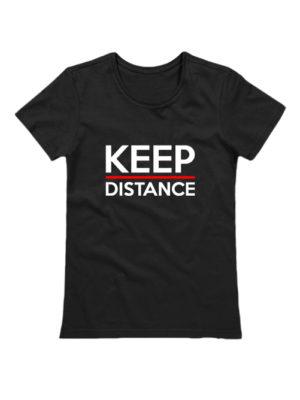 Футболка Keep Distance женская черная