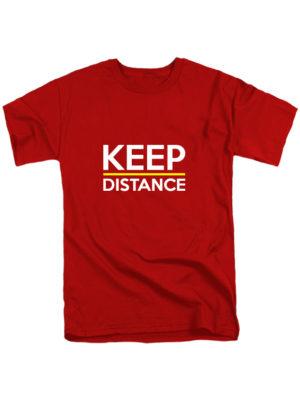 Футболка Keep Distance красная