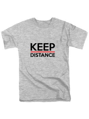 Футболка Keep Distance серая