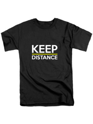 Футболка Keep Distance черная