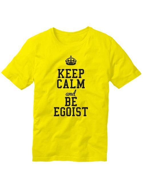 Футболка Keep calm and be egoist желтая