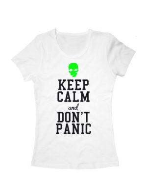 Футболка Keep calm and don't panic женская белая
