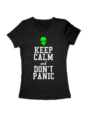 Футболка Keep calm and don't panic женская черная