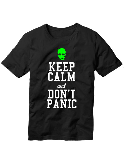 Футболка Keep calm and don't panic черная