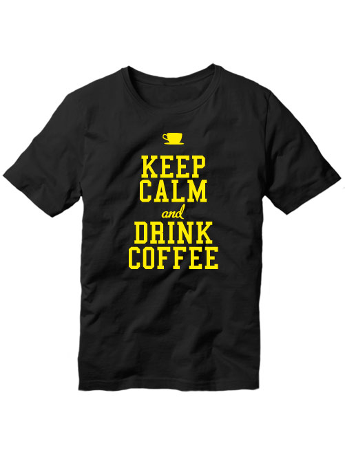 Футболка Keep calm and drink coffee черная