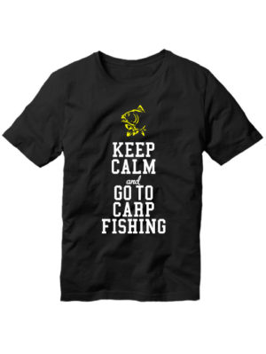 Футболка Keep calm and go to carp fishing черная