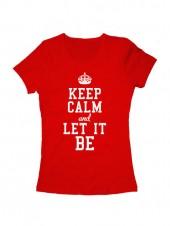 Футболка Keep calm and let it be красная