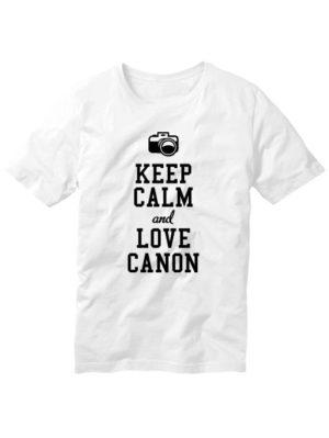 Футболка Keep calm and love canon белая