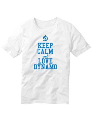 Футболка Keep calm and love dynamo белая