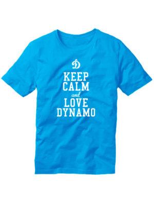 Футболка Keep calm and love dynamo голубая