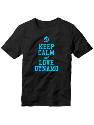 Футболка Keep calm and love dynamo черная