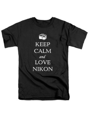 Футболка Keep calm and love nikon черная