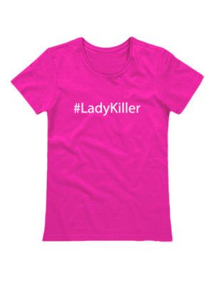 Футболка Lady Killer розовая