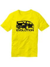 Футболка Lancer Evolution желтая