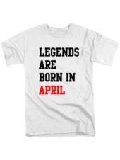 Футболка Legends are born in april белая