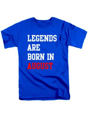 Футболка Legends are born in august синяя
