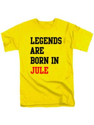Футболка Legends are born in jule желтая