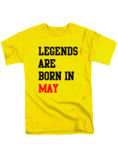 Футболка Legends are born in may желтая