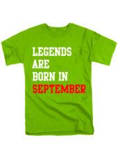 Футболка Legends are born in september салатова