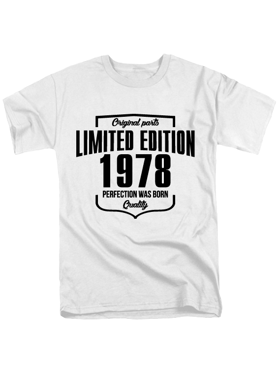 Футболка Limited Edition 1978 белая