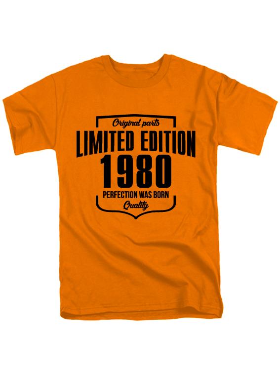 Футболка Limited Edition 1980 оранжевая