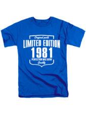Футболка Limited Edition 1981 синяя