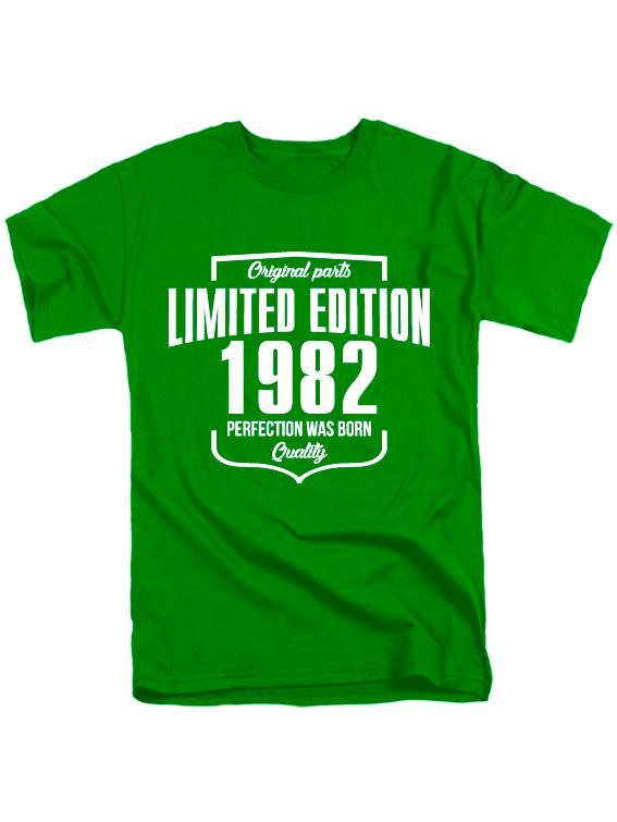 Футболка Limited Edition 1982 зеленая