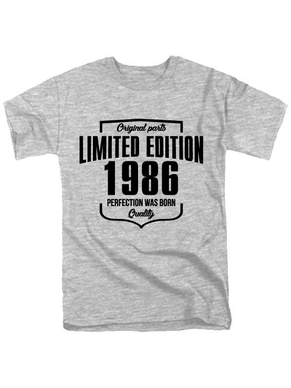 Футболка Limited Edition 1986 серая