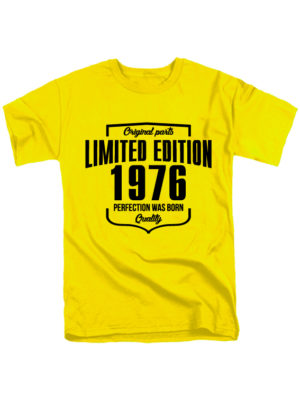 Футболка Limited edition 1976 желтая