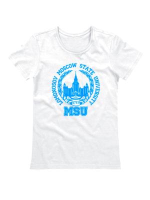 Футболка Lomonosov University женская белая