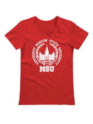 Футболка Lomonosov University женская красная