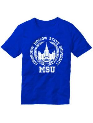 Футболка Lomonosov University синяя