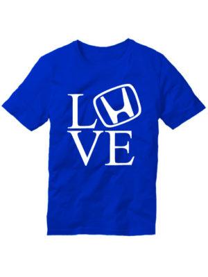 Футболка Love honda синяя