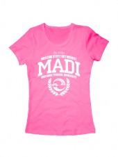 Футболка MADI женская розовая