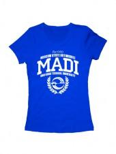 Футболка MADI женская синяя