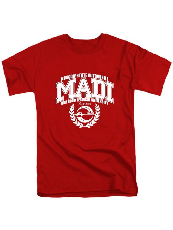 Футболка MADI мужская красная